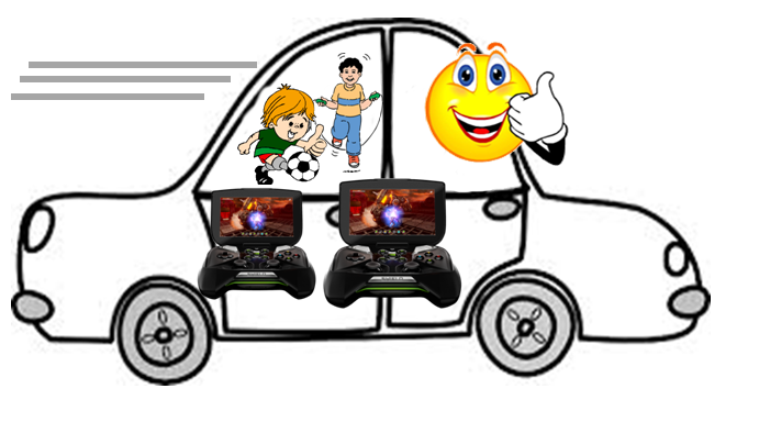 Two boys on a 20-hour car trip with two NVIDIA Shield gaming consoles